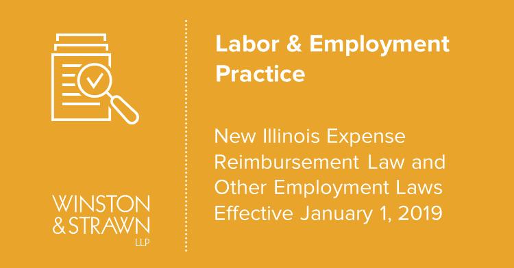 New Illinois Expense Reimbursement Law and Other Employment