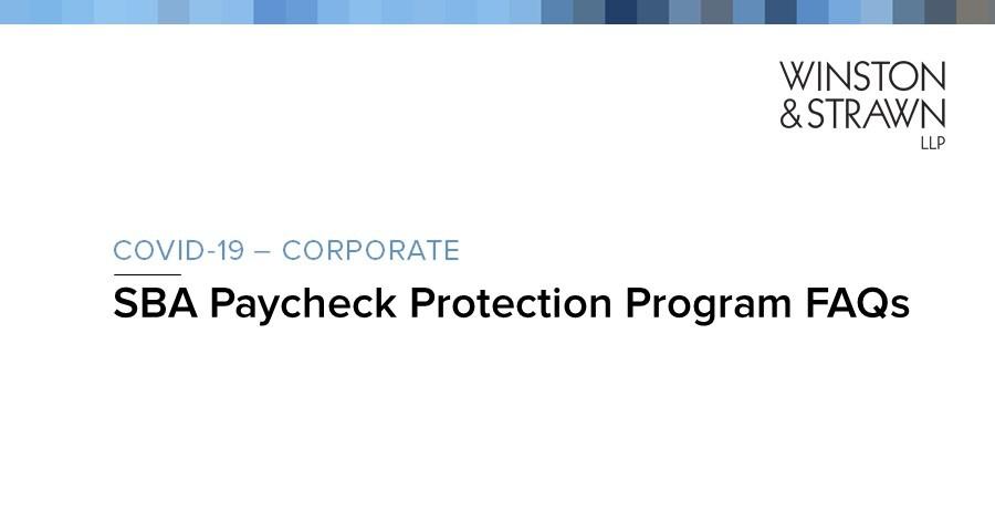 Sba Paycheck Protection Program Faqs